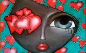 rostro-femenino-con-etiquetas-en-forma-de-corazón